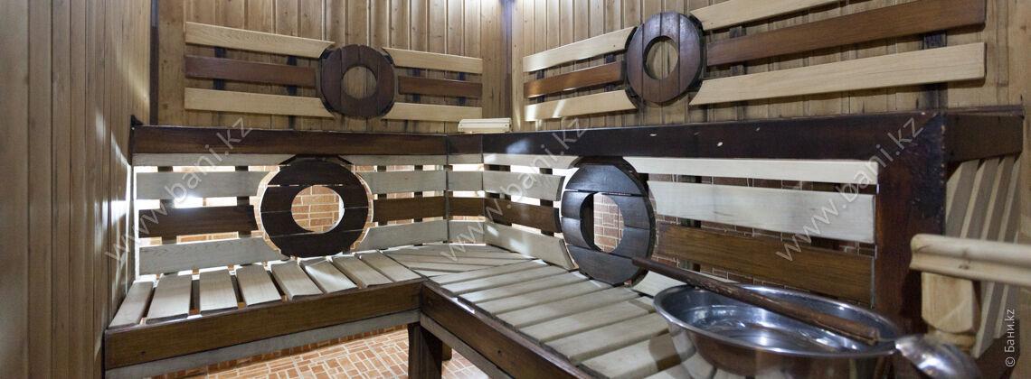 Большая финская сауна в комплексе Caesar Club на Айтеке би