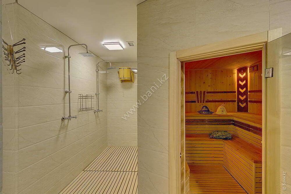 Баня «Светлая» в комплексе «VIP-сауна Альпийская» – Фото сауны «Темная» – фото 8