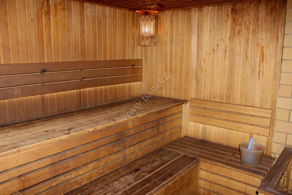 Малая сауна в комплексе «Карагай» – Интерьер большой сауны