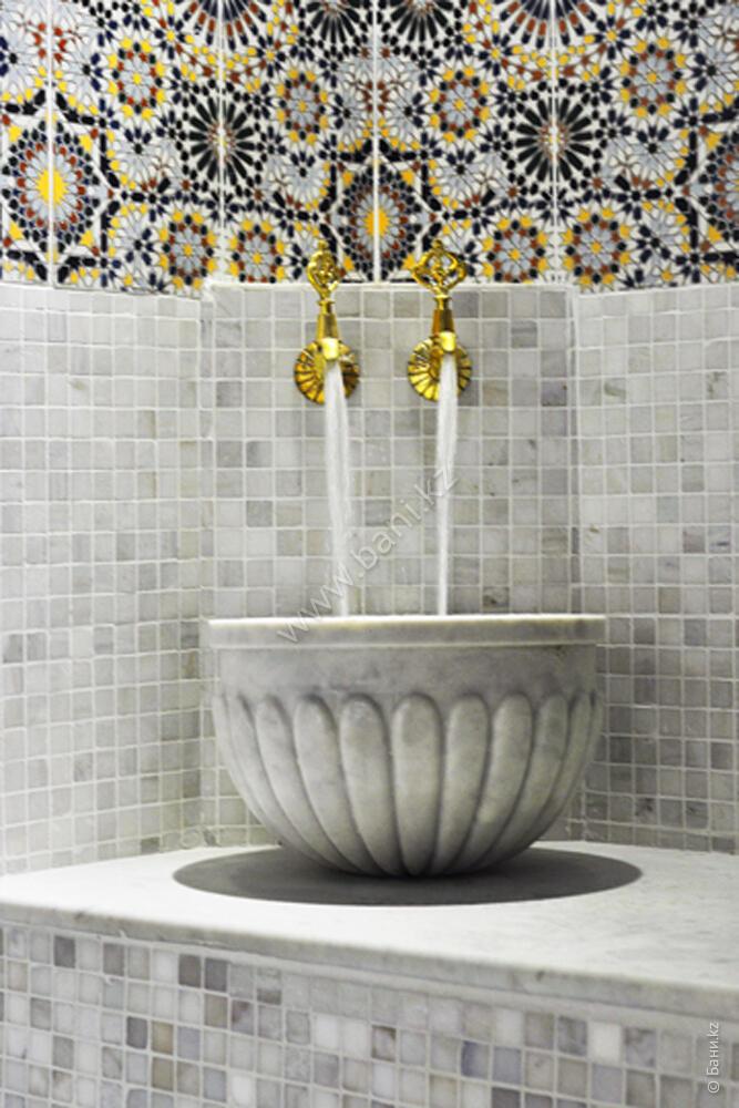 Марокканская баня с хамамом и русская баня в комплексе «Авторитет»  – Интерьер марокканской бани