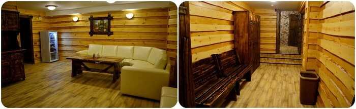 Баня «Четырехместная сауна на дровах »